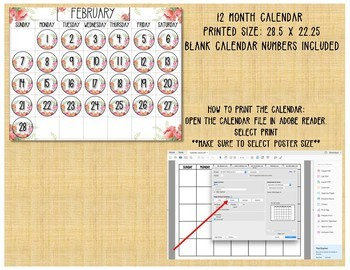 Floral Decor Calendar