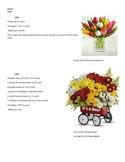 Floral Design Pricing Picture Worksheet, agriculture