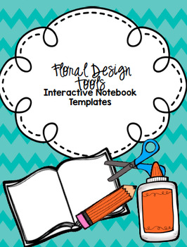 Floral Design Tools Interactive Notebook Templates