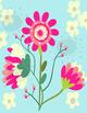 Floral Digital Art Classroom Decor Printable Picture #1