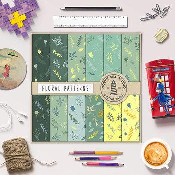 Floral Digital Paper - Plant Backgrounds