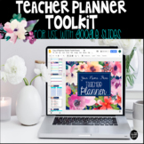 Floral Digital Teacher Planner Toolkit to use with Google Drive