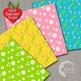 Floral Digital papers, DAISY paper Patterns, polka dots, AMB-2403