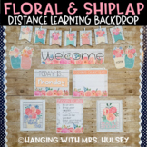 Floral Distance Learning Backdrop Decor