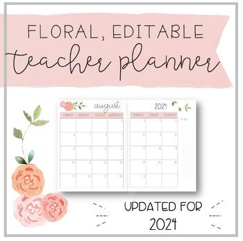 Floral EDITABLE Teacher Planner