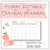Watercolour Floral Teacher Planner