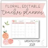 Watercolour Floral Teacher Planner