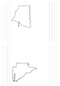 Floral Emblems of Australia Blank States Booklet
