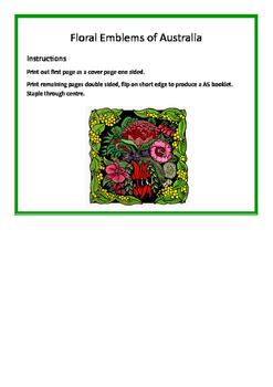 Floral Emblems of Australia Booklet