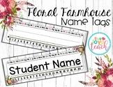 Name Tags/ Desk Plates - Editable Floral Farmhouse