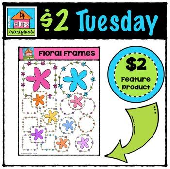 Floral Frames {P4 Clips Trioriginals Digital Clip Art}