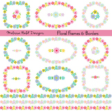 Clipart: Floral Frames and Borders Clip Art