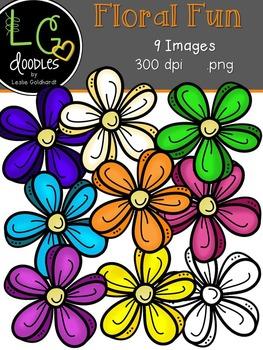 Floral Fun Clip Art ~ by LG Doodles