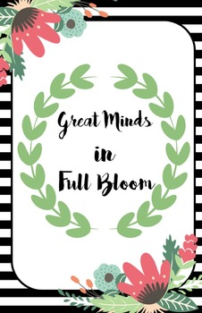 Floral Garden Themed Classroom Posters -2 Sizes!