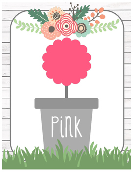 Floral Garden Themed Color Posters