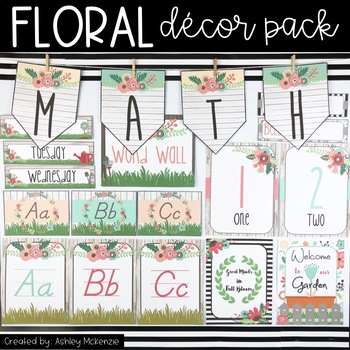 Floral Garden Rustic Themed Decor Pack!