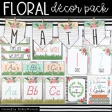 Floral Garden Rustic Themed Classroom Decor Pack!