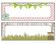 Floral Garden Themed Desk Name Tags