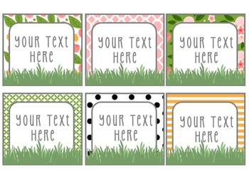 Floral Garden Themed Editable Posters & Labels