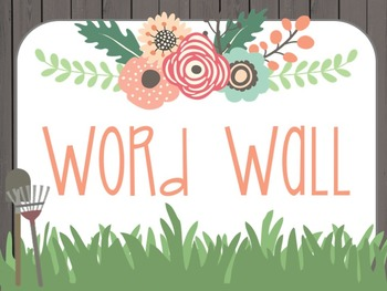 Floral Garden Themed Word Wall
