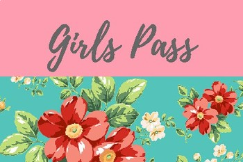Floral Hall Passes
