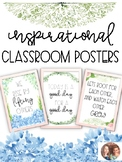 Floral Inspirational Classroom Posters