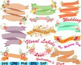 Floral Labels Wedding Flower Spring summer valentines day card making gift -110s