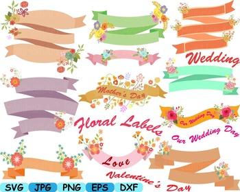 Floral Labels Wedding Flower Spring summer valentines day