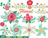 Floral Labels Wedding Flower Spring summer valentines day card making gift -21sv
