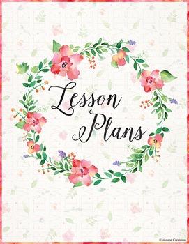 Floral Lesson Plans Book Cover