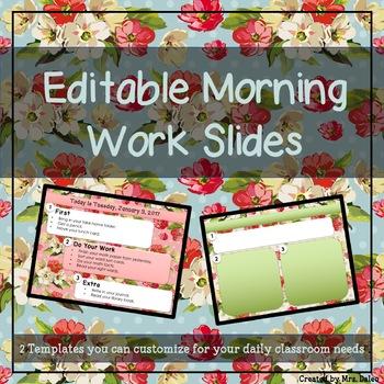 Floral Morning Work Slides