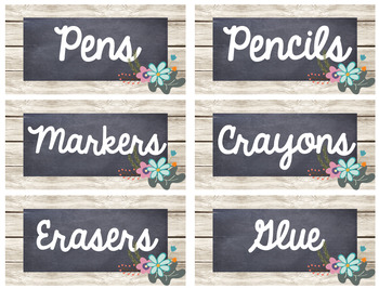Floral Name Tags and Labels EDITABLE