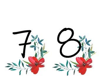 Floral Number Banner