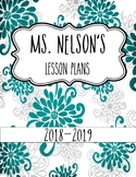 Floral Planner Editable Covers / Binder Pages