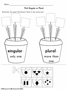 Floral Plurals Singular & Plural Center & Pages Free Sample