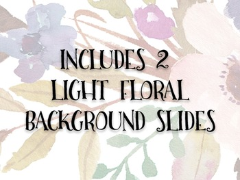 Floral PowerPoint backgrounds | Watercolor PowerPoint slides | PowerPoint set