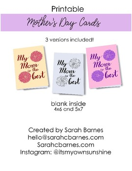 photograph regarding Happy Mothers Day Printable Cards identified as Floral Printable Moms Working day Card, Shade your personalized, reward, Delighted Moms working day