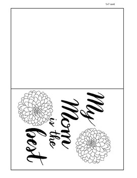 photo about Printable Mothers Day Cards to Color named Floral Printable Moms Working day Card, Shade your individual, present, Pleased Moms working day