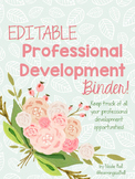 Floral Professional Development Binder Set!  EDITABLE!