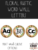 Floral Rustic Word Wall Letters