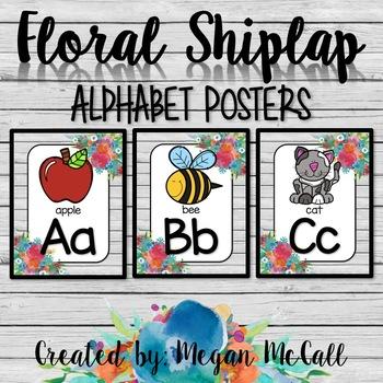 Floral Shiplap: Print Alphabet Posters