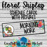 Floral Shiplap: Schedule Cards with Pictures