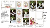Floral Shiplap bundle, birthday tags,Meet the teacher stations,watercolor floral