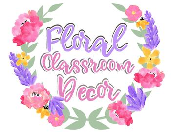 Floral Signs Classroom Decor