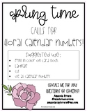 Floral Springtime Calendar Numbers