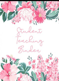Floral Student Teaching Binder