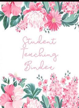 Floral Student Teaching Binder