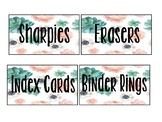 Floral Succulent theme toolbox labels EDITABLE