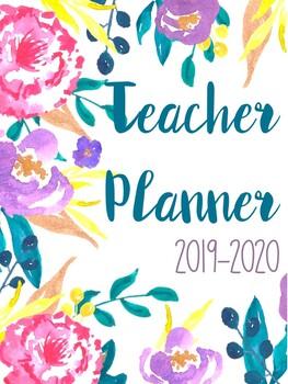 Floral Teacher Binder 2018-2019