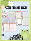Floral Teacher Binder